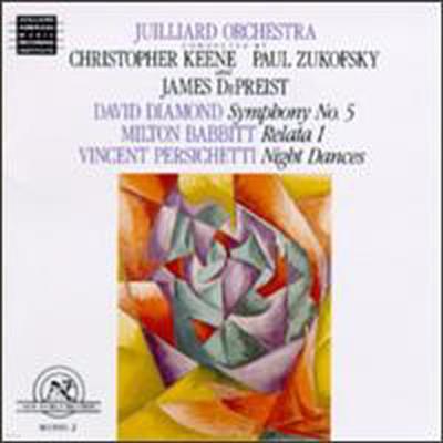 퍼시케티: 밤의 무도, 다이아몬드: 교향곡 5번 (Persichetti: Night Dances Op114, Diamond: Symphony No.5)(CD) - Christopher Keene