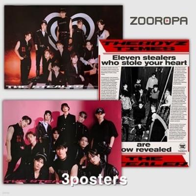 [3포스터/새상품] 더보이즈 The Boyz 미니앨범 5집 CHASE (브로마이드3장+지관통)
