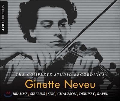 Ginette Neveu 지네트 느뵈 스튜디오 녹음 전곡집 (The Complete Studio Recording)