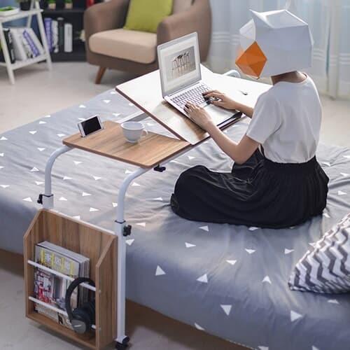 이동식 침대 높이 폭조절 사이드 베드테이블 400*1200~1900