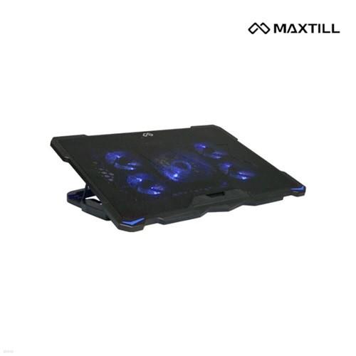 맥스틸 MAXSTILL NP500 노트북 거치대 받침대 쿨링패드 4단계 각도조절 2개 USB 쿨링거치대