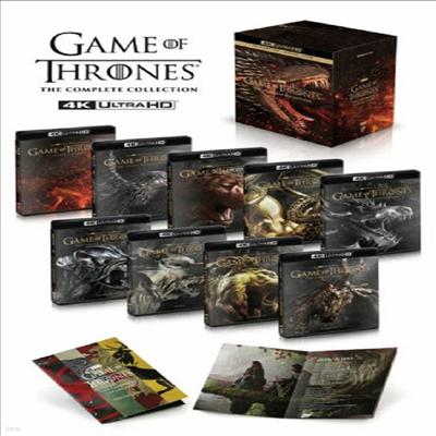 Game Of Thrones: The Complete Collection (왕좌의 게임: 더 컴플리트 컬렉션) (4K Ultra HD)(한글무자막)(Boxset)