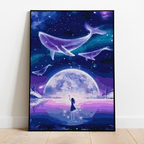 명화그리기 고래의 꿈 캔버스페인팅 유화그림 DIY