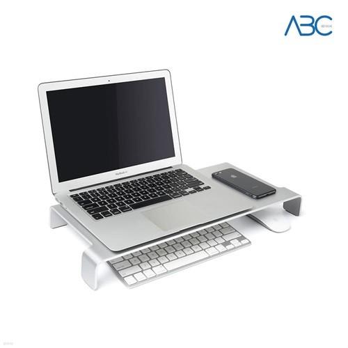 ABC 알루미늄 모니터 거치대 노트북 받침대 키보드수납 책상정리용품