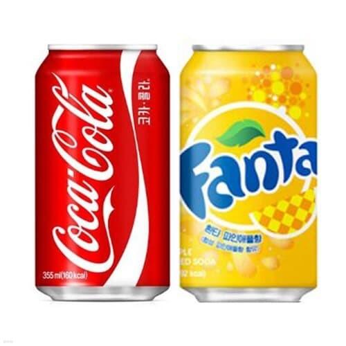 코카콜라 콜라 355ml 24캔 + 환타 파인애플 355ml 24캔
