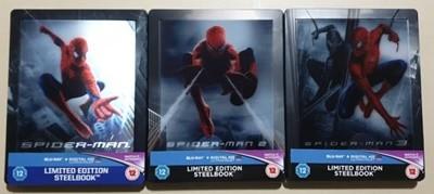 [블루레이] 스파이더맨 1-3 : 영국 자비 렌티 스틸북 (한글자막 O)