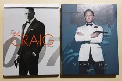 [블루레이] 007 다니엘 크레이그 북미 베스트바이 켈렉션 스틸북 (카지노 로얄/퀀텀 오브 솔러스/스카이폴) (한글자막 O) + 정발 스펙터 풀슬립 스틸북 한정판