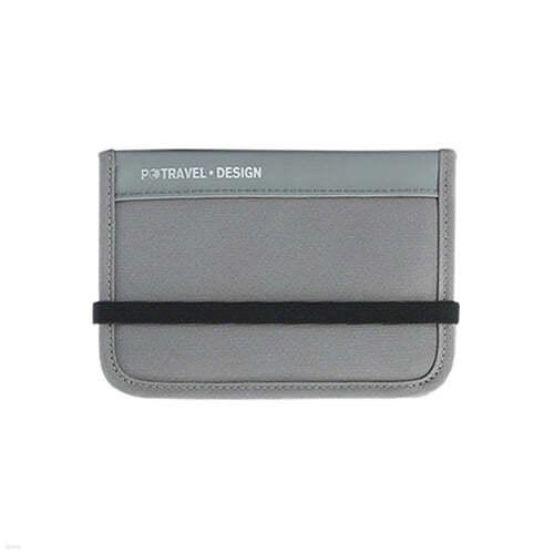 [예스베리굿즈] 포터블 크로스 슬림 지갑 - 그레이