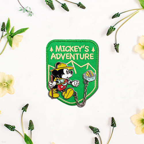 [예스베리굿즈][YES24 X Disney] 얼리리더 체인 배지 + 와펜 SET - 캠핑가는 미키