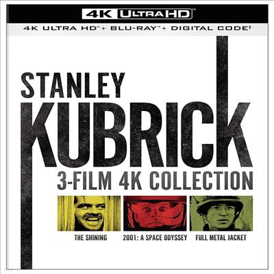 Stanley Kubrick: 3-Film 4K Collection (The Shining / 2001: A Space Odyssey / Full Metal Jacket) (스탠리 큐브릭 3 필름 컬렉션)(한글무자막)(4K Ultra HD)