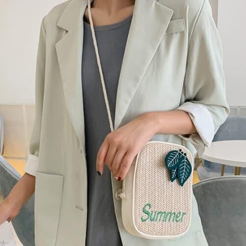 유캔 라탄 여름 가벼운가방 미니 크로스백