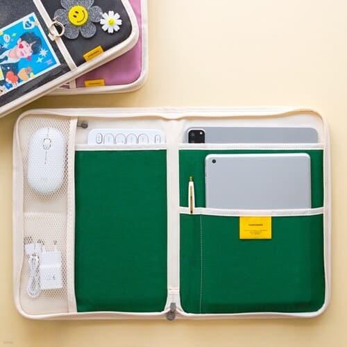 [키보드&마우스수납] 캔버스 태블릿 아이패드 파우치