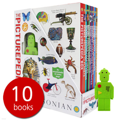 DK 스미소니언 그림사전 원서 10종 박스 세트 (LED 로봇 포함) DK The Picturepedia Box 10 Books Set with LED Robot