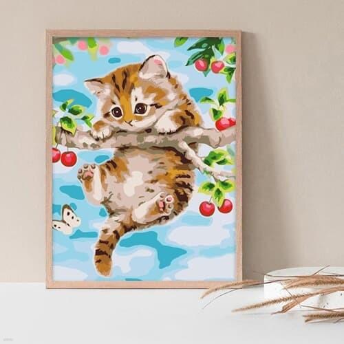 체리와 고양이 DIY명화그리기 유화그리기세트 명화색칠하기