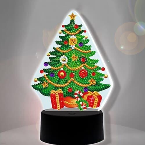 크리스마스 트리 diy 십자수 무드등 어린이 보석십자수