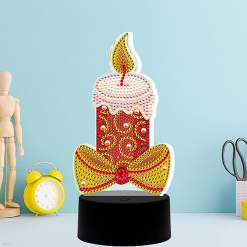 촛불하나 DIY 비즈 십자수 무드등 어린이 보석십자수