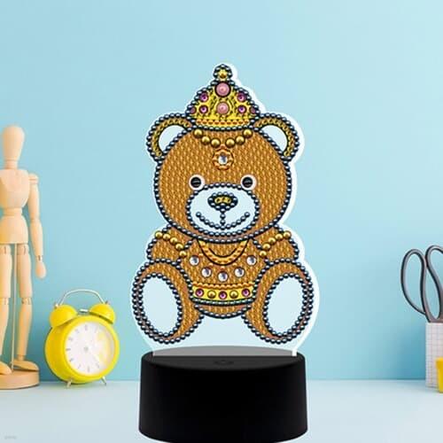 곰왕국 곰왕자 DIY 비즈 십자수 무드등 어린이 보석십자수