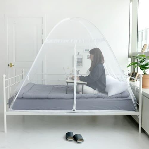 모기차단 침대설치 1S원터치 스피드 모기장 텐트 소형