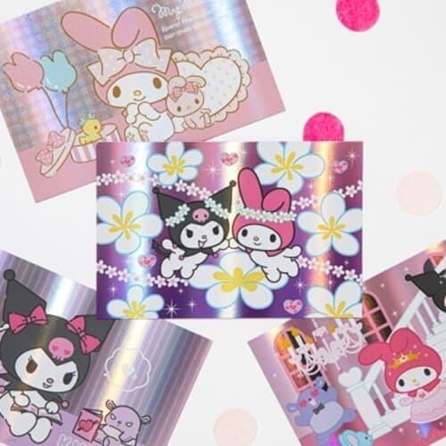 [Sanrio] 마이멜로디&쿠로미 홀로그램 엽서