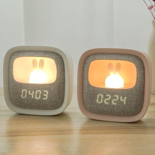 귀여운 탁상시계 무소음 LED 무드등 수면등 수유등 알람시계 특이한 귀여운 인테리어 집들이선물