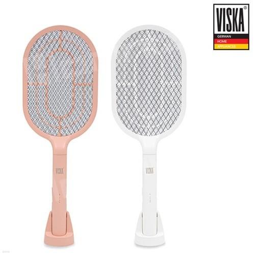 [비스카] 충전식 전기모기채/색상택일:VK-MK1000W_화이트, VK-MK1000P_핑크