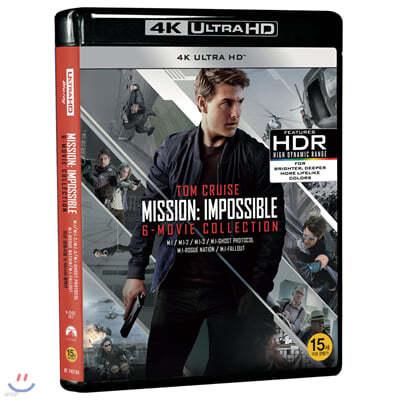 미션 임파서블 6-Movie 콜렉션 (6Disc 4K UHD) : 블루레이