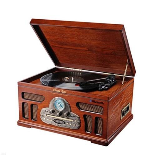 클래식 턴테이블 오디오 테라웍스 TERA-5500B LP 레코드판 라디오 CD 카세트 플레이어 블루투스 스피커