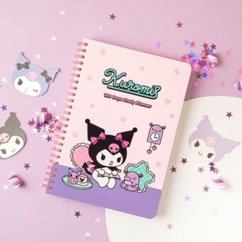 [Sanrio] 쿠로미 스터디 플래너+수첩 세트