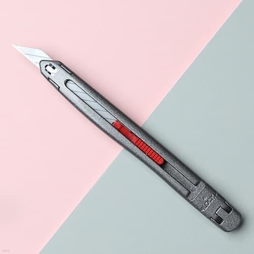 아날로그 크롬 커터칼 락 30도 아트 컷터칼 카터칼 칼날