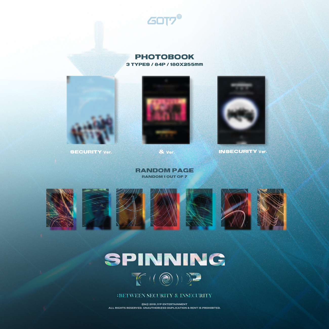 GOT7 : SPINNING TOP [Random1p] - YES24